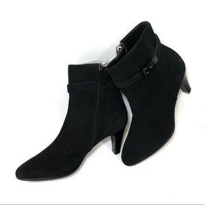 Aquatalia black suede heeled boots size 10